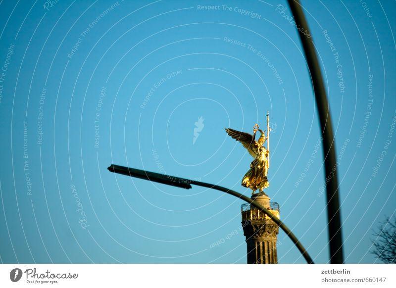 Sky Summer Spring Berlin Gold Street lighting Lantern Angel Cloudless sky Monument Landmark Tourist Attraction Capital city Blue sky Sky blue