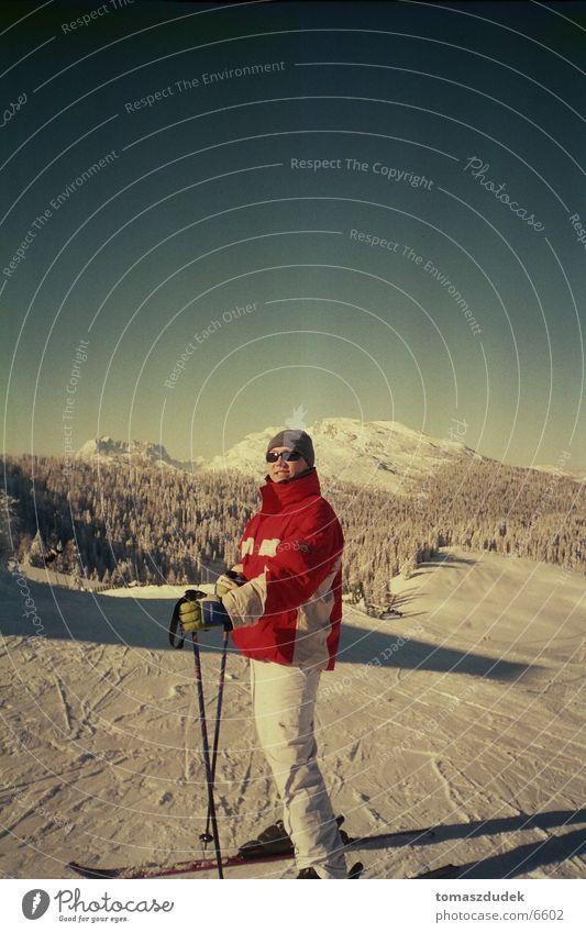 ski Skiing Sun Winter vacation Sports Snow Sky Mountain