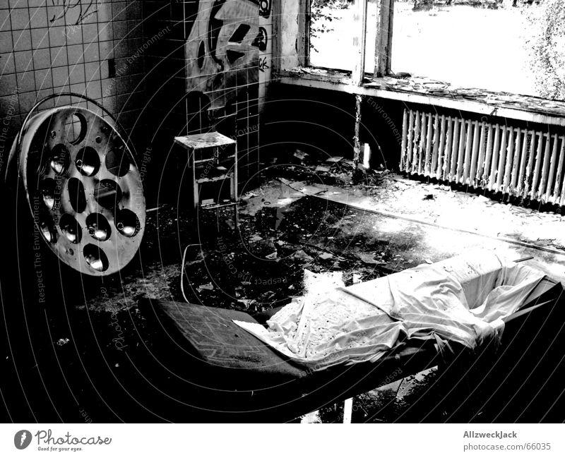 Loneliness Black Dark Rain Glass Dirty Couch Creepy Tile Hospital Broken Shabby Ruin Destruction Disgust Floodlight