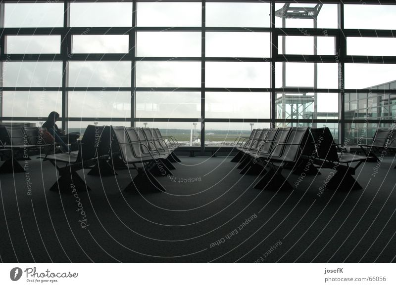 Empty seats in the waiting hall at Frankfurt Airport Armchair Break Departure lounge Seating Wait Vacation & Travel