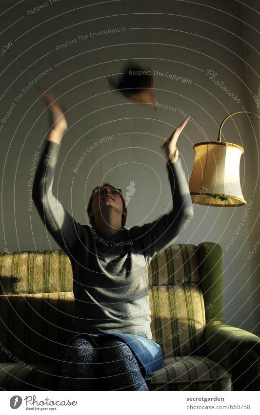 STUDIO TOUR   freuden throw projectile Lifestyle Living or residing Flat (apartment) Interior design Furniture Lamp Sofa Room Feminine Young woman