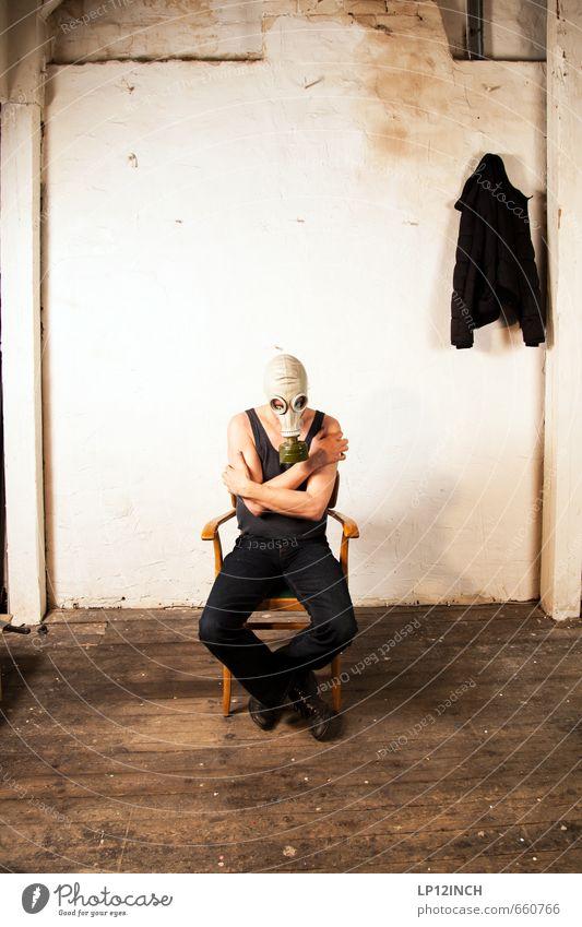 STUDIO TOUR | GAS TIME. I Masculine Man Adults 1 Human being Aggression Threat Dark Creepy Rebellious Retro Trashy Gloomy Hope Pain Fear Horror Dangerous Force