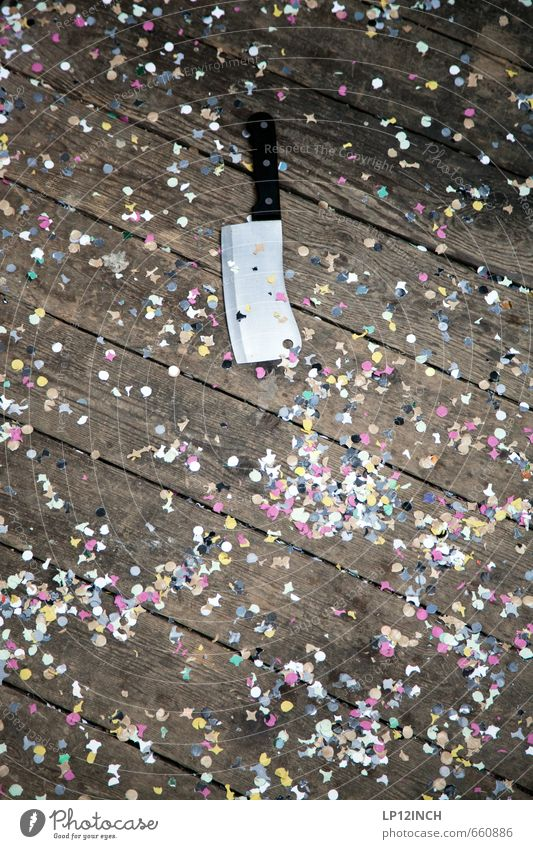 City Party Fear Threat Might Anger Force Aggression Knives Wooden floor Aggravation Problem solving Confetti Axe