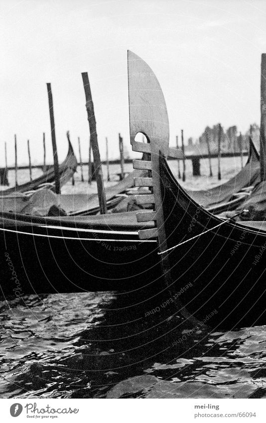 once upon a time Venice Vacation & Travel Watercraft Section of image Partially visible Detail Gondola (Boat)