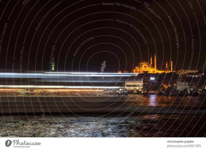 Lights of Istanbul Vacation & Travel Tourism City trip Ocean Coast Lakeside River bank Turkey Town Outskirts Old town Skyline Church Dome Manmade structures