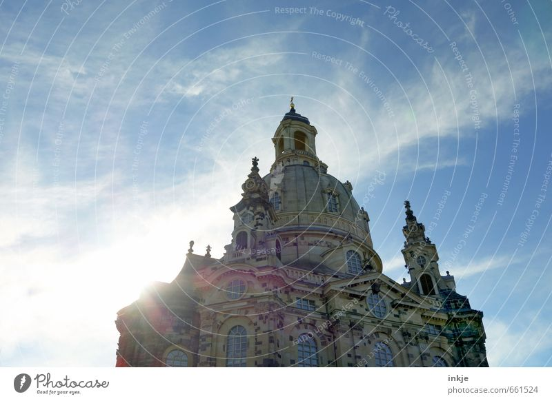 Church of Our Lady Drähschdn Tourism Sightseeing City trip Summer Sky Clouds Beautiful weather Dresden Town Downtown Deserted Manmade structures Building