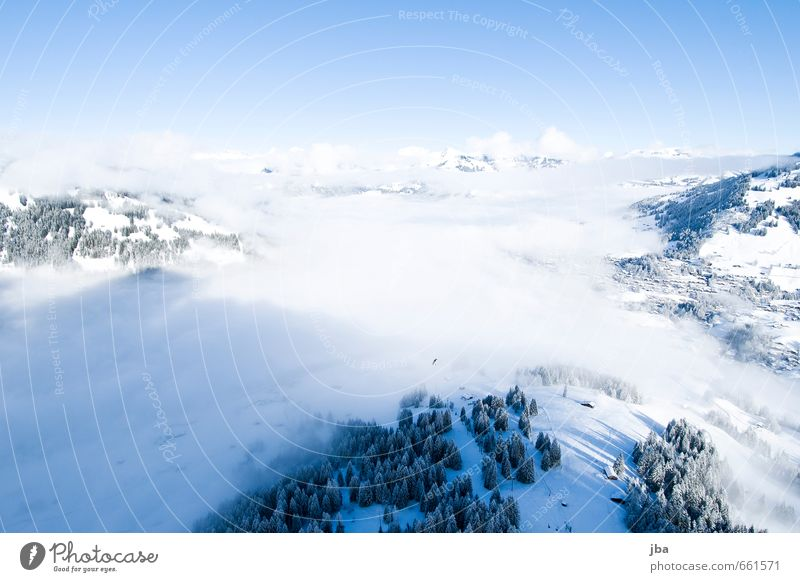 Nature Relaxation Landscape Calm Clouds Winter Mountain Life Snow Sports Freedom Air Flying Leisure and hobbies Fog Contentment