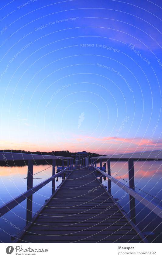 Water Sky Sun Lake Footbridge Handrail Reservoir