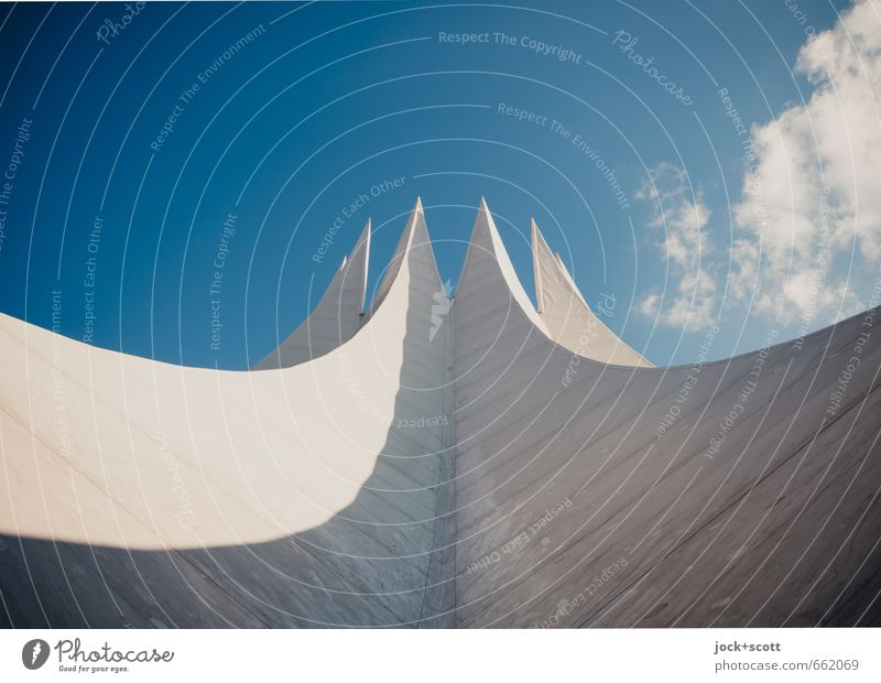 Edition 900 Sky Clouds Kreuzberg Roof Tempodrom Concrete Exceptional Famousness Fantastic Original Esthetic Design Modern Shadow play Circus tent Futurism
