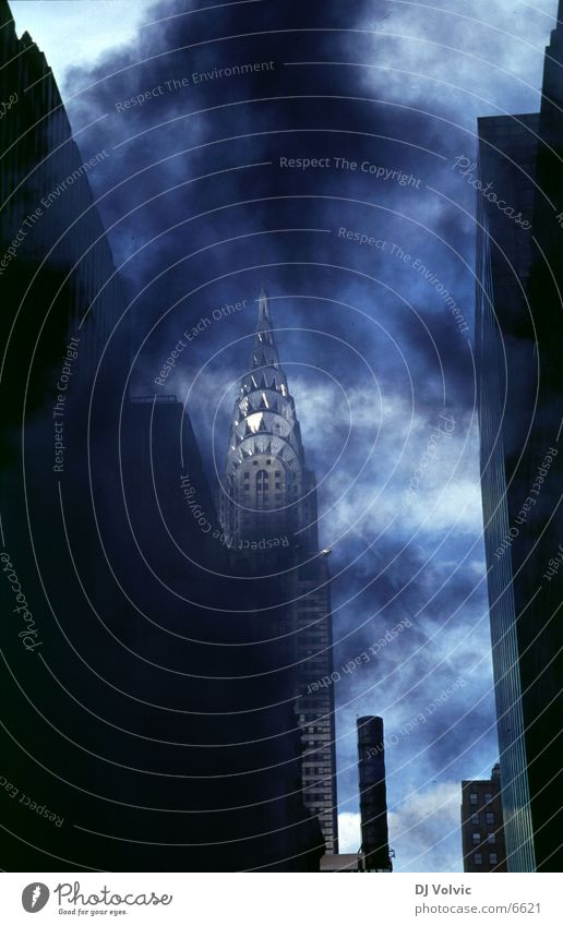 Architecture High-rise Modern USA Hot Smoke New York City Gully Chrysler Building