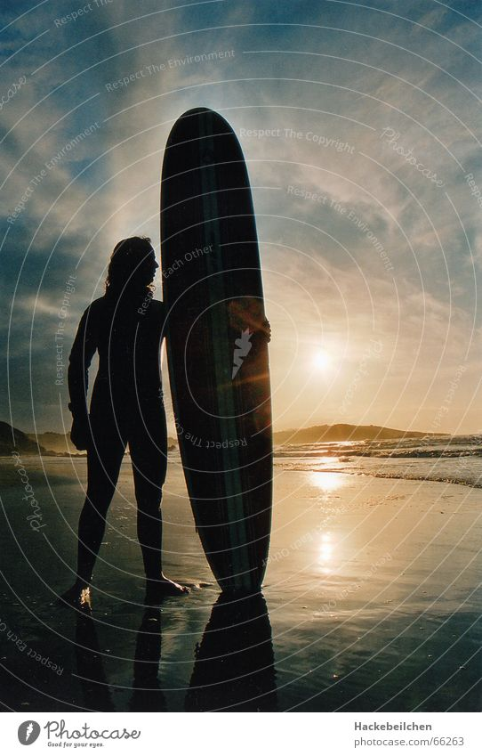 soulsearchin´ Surfing Beach Sunset Ocean Surfer Loneliness board Sky