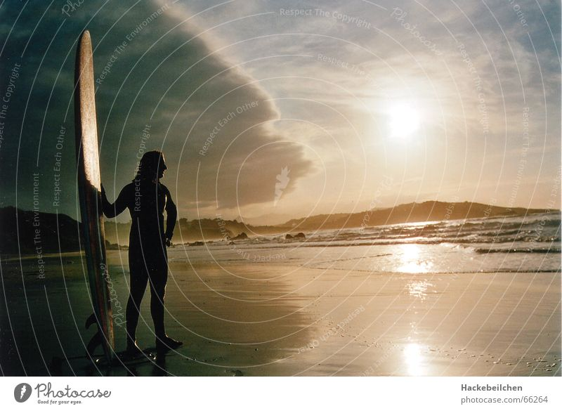 soulsearchin´ Surfing Beach Sunset Ocean Surfer Loneliness Moody Waves board Sky