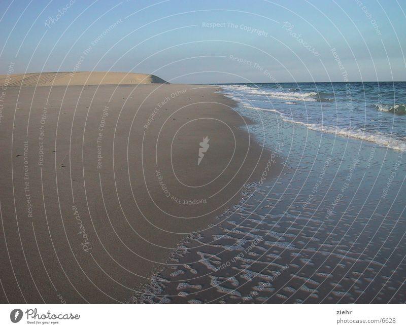 desert beach Ocean Hot Beach Loneliness Sand Water Sun Desert Beach dune