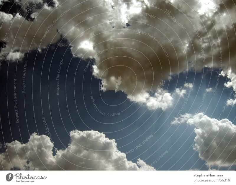 Sky Blue Clouds Dark Freedom Bright Infinity Radiation Appearance God Eternity Deities Flashy Fishing rod Limit