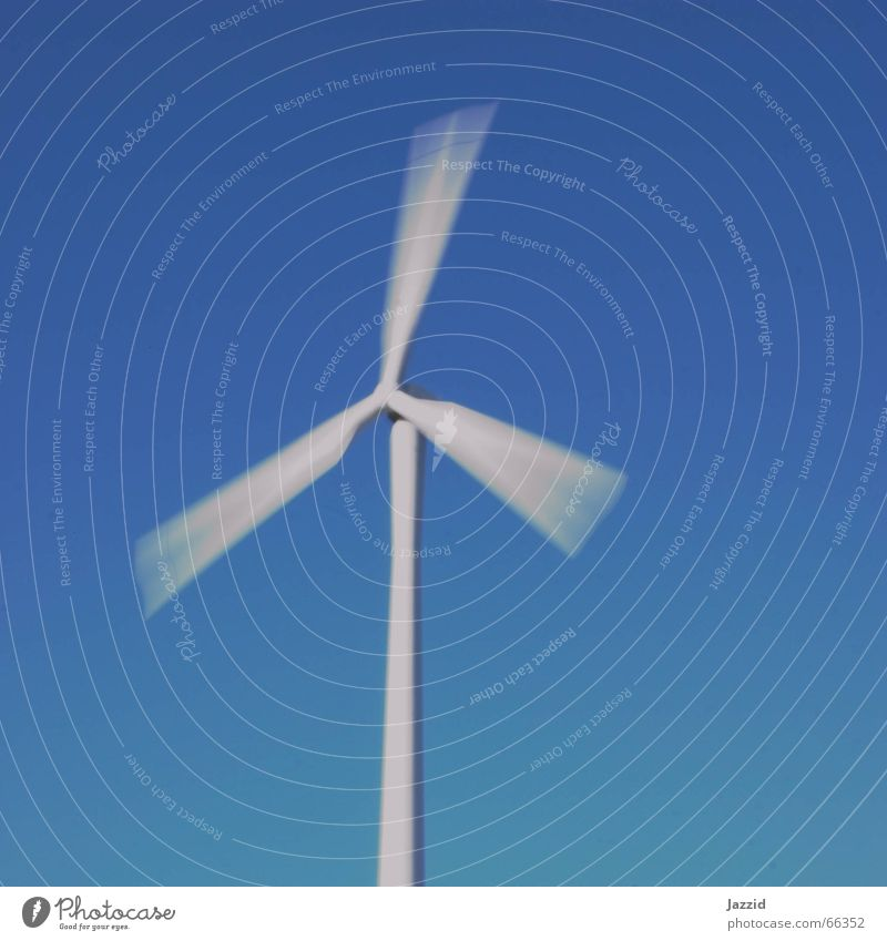 Sky White Blue Movement Power Wind Energy industry Wind energy plant Square Rotate Renewable energy