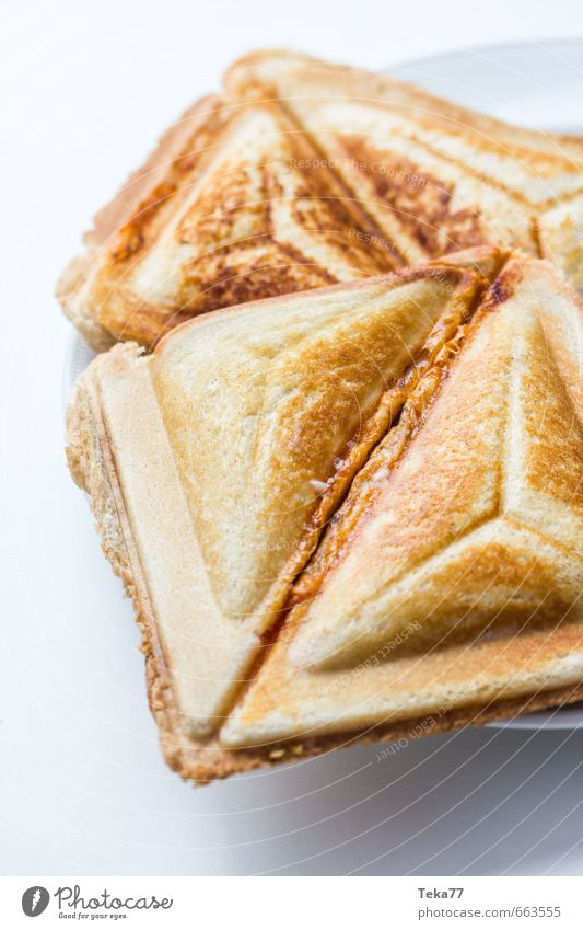 for the small hunger Food Grain Dough Baked goods Bread Nutrition Eating Lunch Fast food Esthetic Desire Sandwich Toast sandwich maker Colour photo
