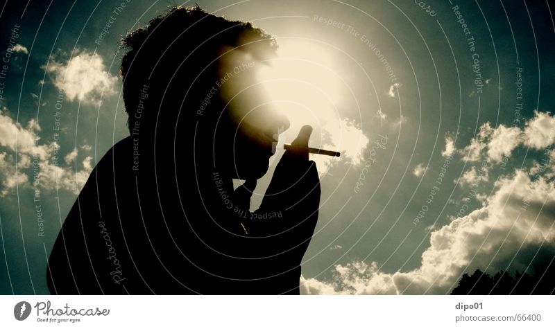 Sky Sun Clouds Relaxation Music Smoking Cigarette To enjoy Afternoon