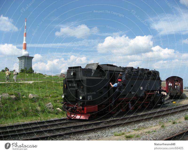 Railroad Train station Passenger Engines Harz Fragment Broacaster Steamlocomotive Ticket collector Narrow gauge railroad