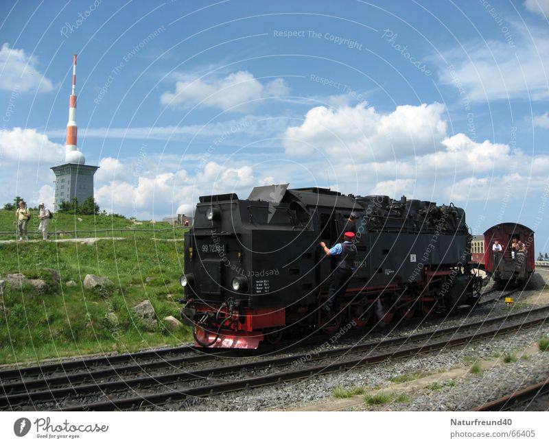 Railroad Train station Passenger Engines Harz Fragment Broacaster Steamlocomotive Ticket collector Narrow gauge railroad