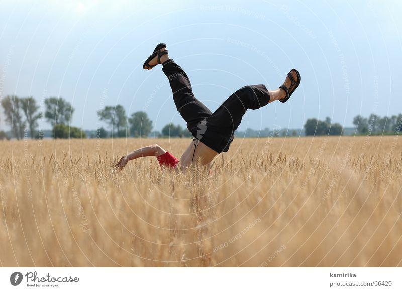Summer Joy Jump Dance Field Cornfield Handstand