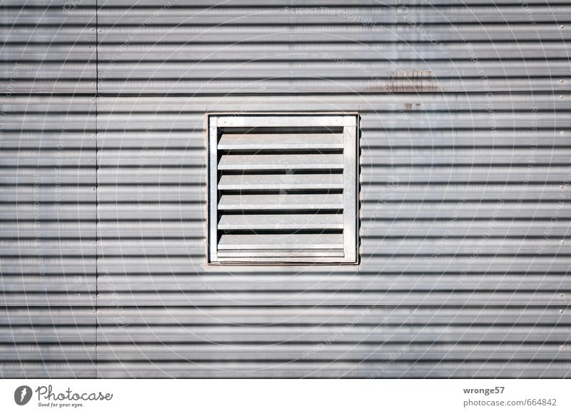 vegetable slicer Facade Opening exhaust air system Ventilation window Metal Sharp-edged Gray Cladding Tin Grating exhaust opening supply air opening