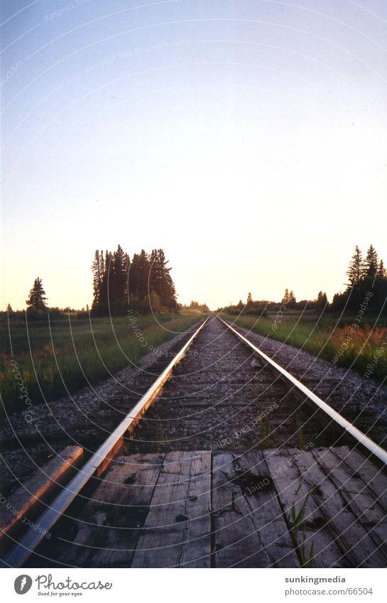 Horizon Railroad Infinity Railroad tracks Canada Manitoba
