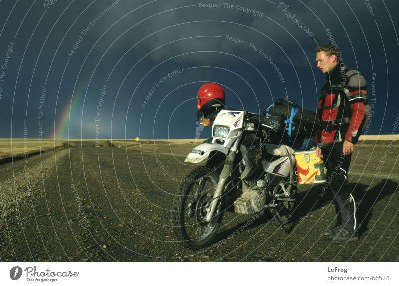 Street Rain Motorcycle Gravel Rainbow Helmet Chile Ski run Offroad vehicle Motocross bike