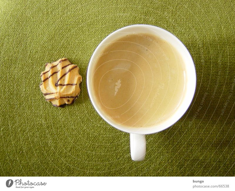 Green Calm Relaxation Brown Coffee Cloth Drinking Peace Concentrate Cup To enjoy Chocolate Beverage Foam Cookie