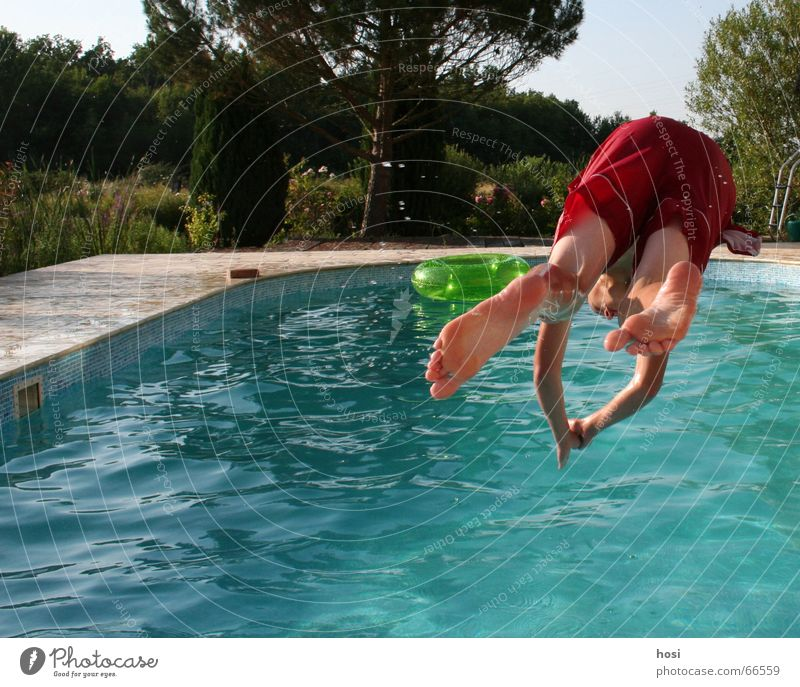 Water Summer Joy Vacation & Travel Jump Wet Cool (slang) Swimming pool Refreshment Cooling Swimming trunks Pleasant