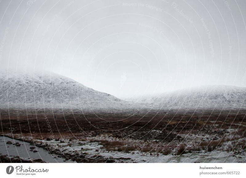 open space Sky Nature White Landscape Clouds Winter Mountain Snow Gray Rock Brown Horizon Fear Field Fog Wild