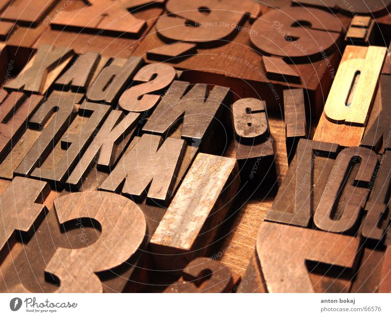 Characters Letters (alphabet) Typography Symbols and metaphors Printed Matter Print shop