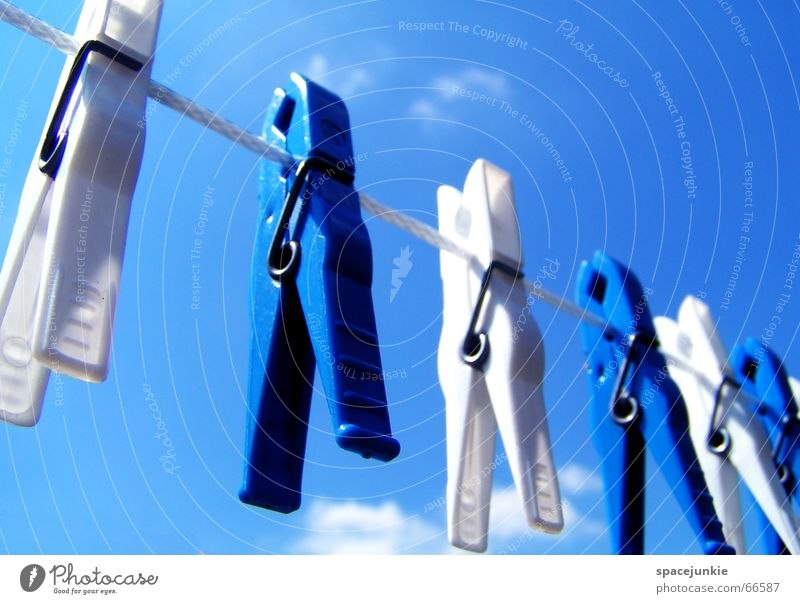 Sky White Blue Rope Statue Dry Hang Laundry Hang up Holder Clothes peg