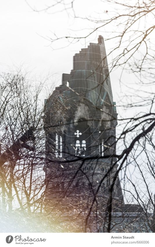 Old City Tree Winter Architecture Building Gray Moody Church Tower Hope Grief Historic Belief Manmade structures Monument