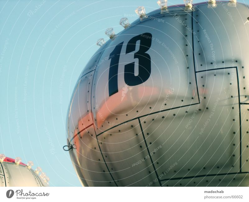 THE WILD 13 Futurism Fairs & Carnivals Glittering Surface Theme-park rides Digits and numbers Balloon Rivet Metal Silver Round Graphic Section of image