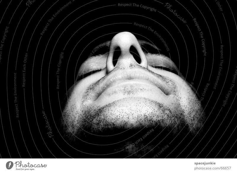 Unshaved and unpainted Portrait photograph Man Facial hair Human being Face Nose Stubble Black & white photo