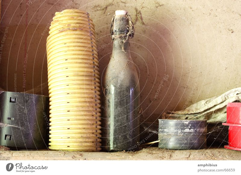 Old Loneliness Pipe Bottle Dust Forget Bottle of beer Timeless Gravel bed