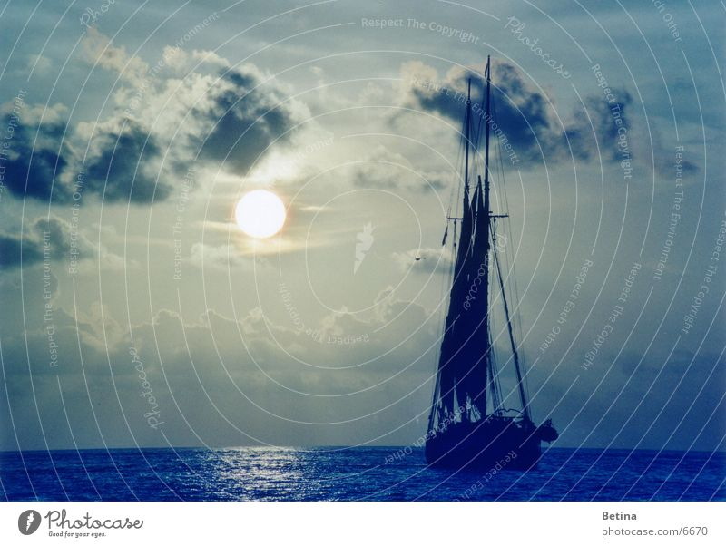 Nature Water Sky Sun Ocean Vacation & Travel Clouds Far-off places Coast Horizon Hope Tourism Trust Longing Serene Sailing
