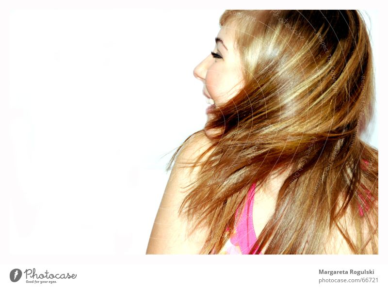 Let your hair dance Rotate Woman Multicoloured Blonde Happiness Dance Hair and hairstyles