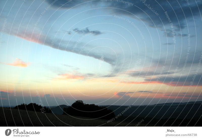 summer evening Clouds Sunset Horizon Landscape Evening Sky Blue Far-off places