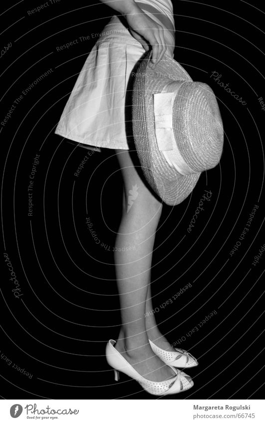 you're as big as you feel Large Small Footwear Dress up Black & white photo Hat Funny Legs