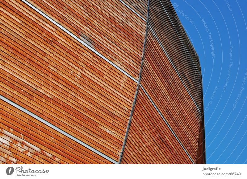Sky Blue Wood Warmth Line Brown Modern Physics Hannover World exposition Ark