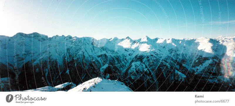 Snow Mountain Large Empty Alps Panorama (Format) Switzerland Canton Wallis