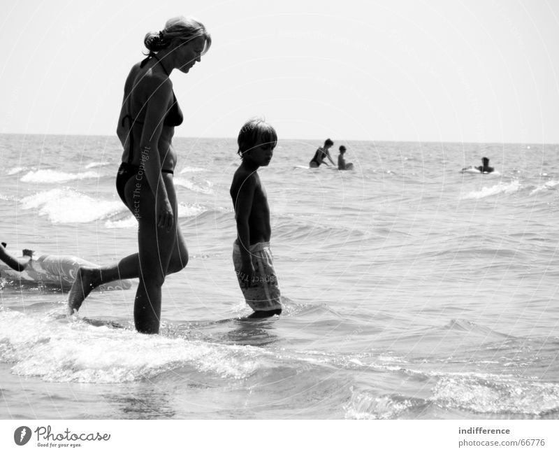 Mother and Son Beach Summer Family & Relations Italy mother child sea tuscany