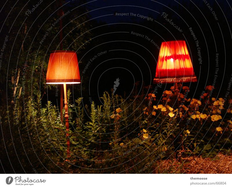 Old Green Plant Red Yellow Lamp Dark Warmth 2 Orange Physics Cloth Cozy Lampshade Standard lamp