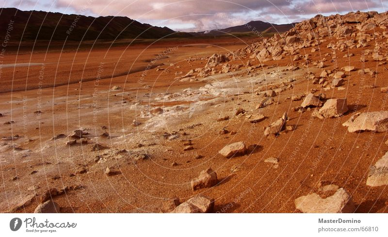 Clouds Stone Landscape Moody Rock Universe Area Sparse Martian landscape Gravel Astronautics