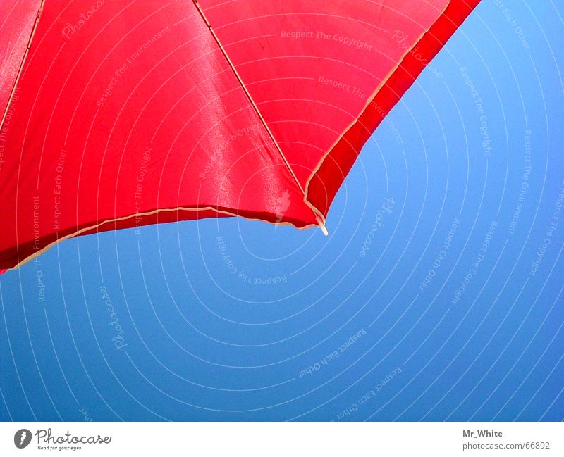 The parasol contrast Beach Ocean Physics Umbrella Sun Sand Warmth