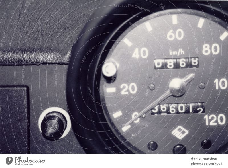 nostalgia Speedometer Photographic technology Car Trabbi Black & white photo