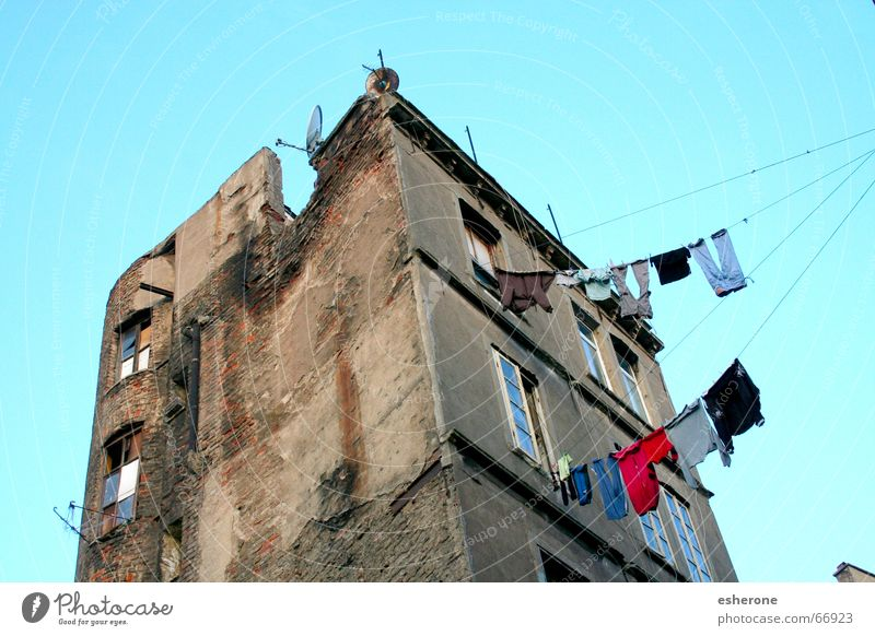 Old Sky Blue House (Residential Structure) Window Wall (barrier) Ruin Turkey Istanbul