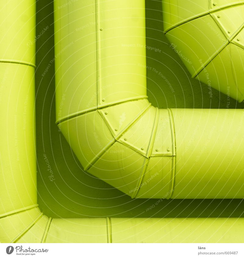 corner House (Residential Structure) Building Wall (barrier) Wall (building) Metal Green Arrangement Attachment Iron-pipe Conduit Provision Corner Colour photo