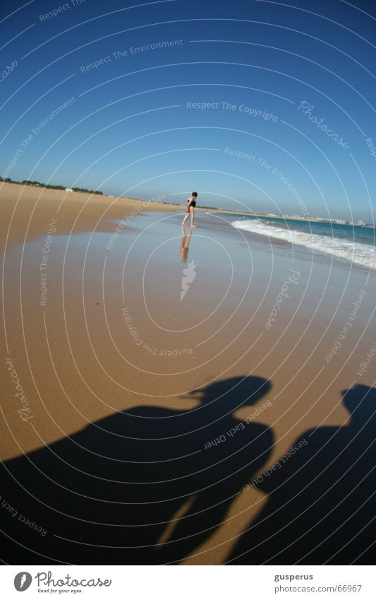{ Shadow game } Ocean Surf Beach Refreshment Summer Vacation & Travel Calm Hissing Waves Low tide scahttes Sand Water relaxation no njente animation